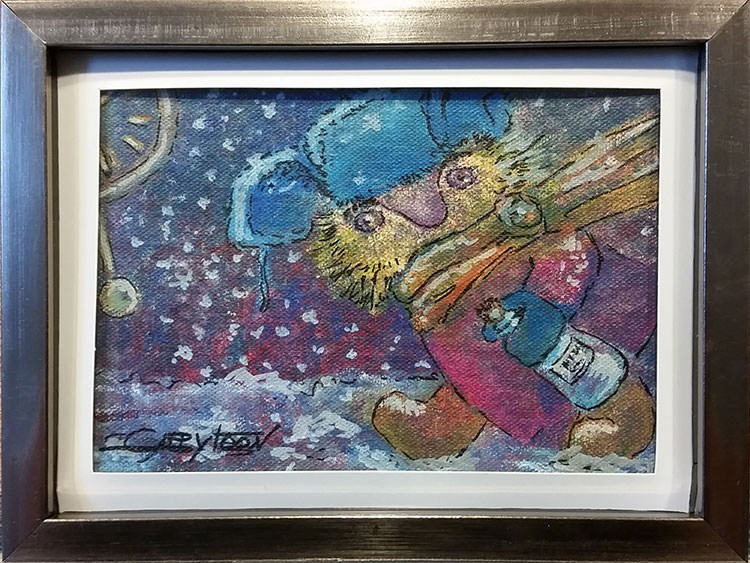 """Just Be In Time"" original fine art by Gabriella DeLamater"
