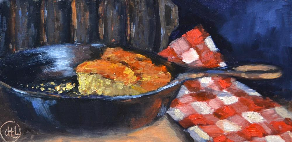 """cast iron comfort"" original fine art by Dottie  T  Leatherwood"
