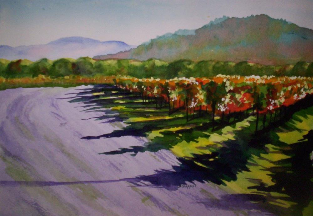 """""""Vineyard Shadows"""" original fine art by Becky Chappell"""
