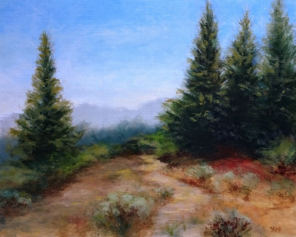 """Hillside Trail"" original fine art by Dalan Wells"