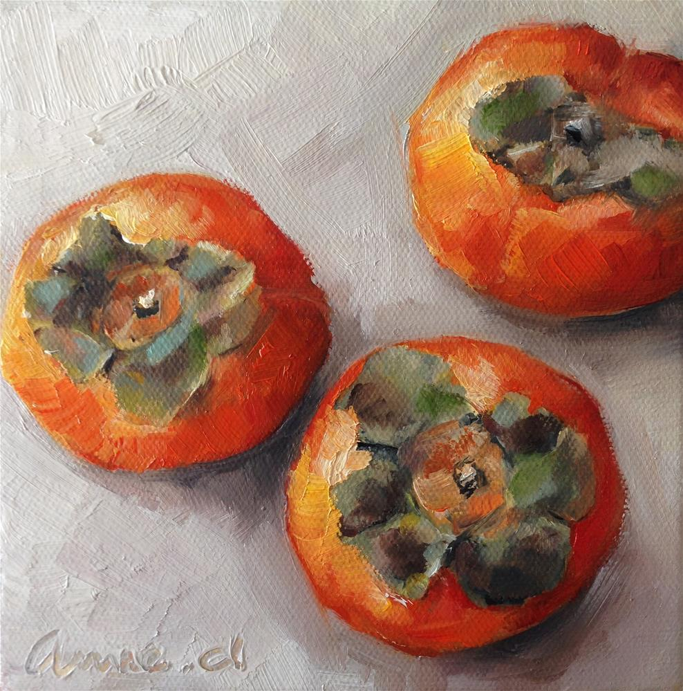 """The Last Persimmons…"" original fine art by Anne Ducrot"