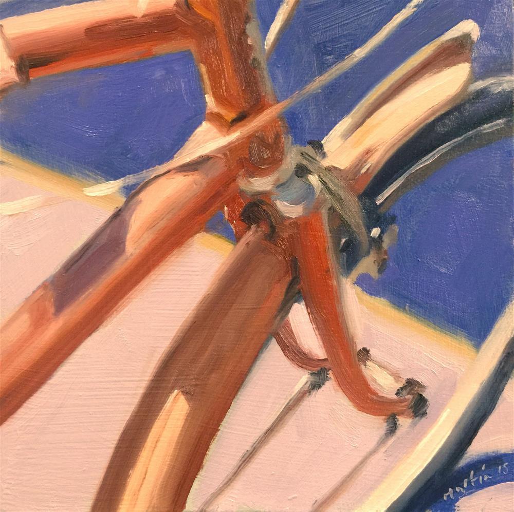 """Old Bike"" original fine art by Chris Martin"