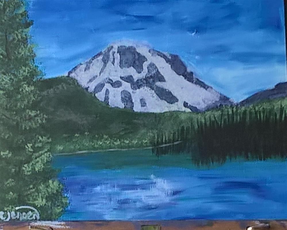 """""""Green Lakes Oregon"""" original fine art by Cindy Jensen"""