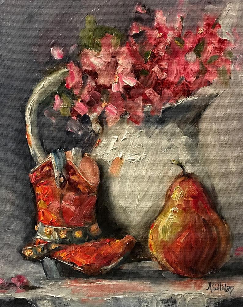 """Boot Scootin still life painting by Alabama Artist Angela Sullivan"" original fine art by Angela Sullivan"