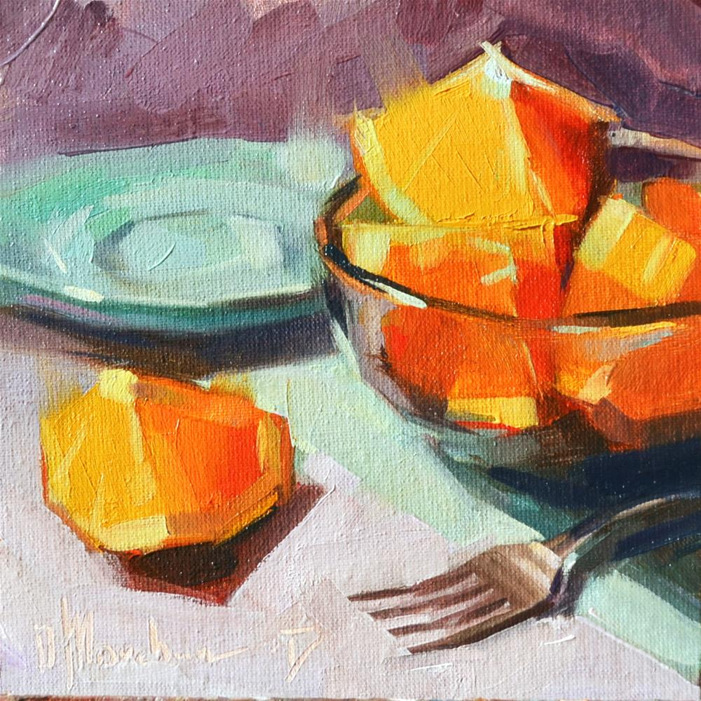 """Sliced ​​orange"" original fine art by Oleksii Movchun"