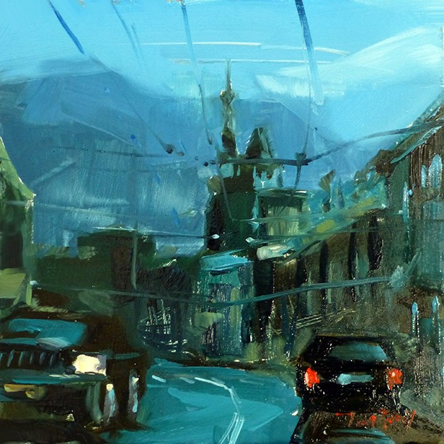 """Straße"" original fine art by Jurij Frey"