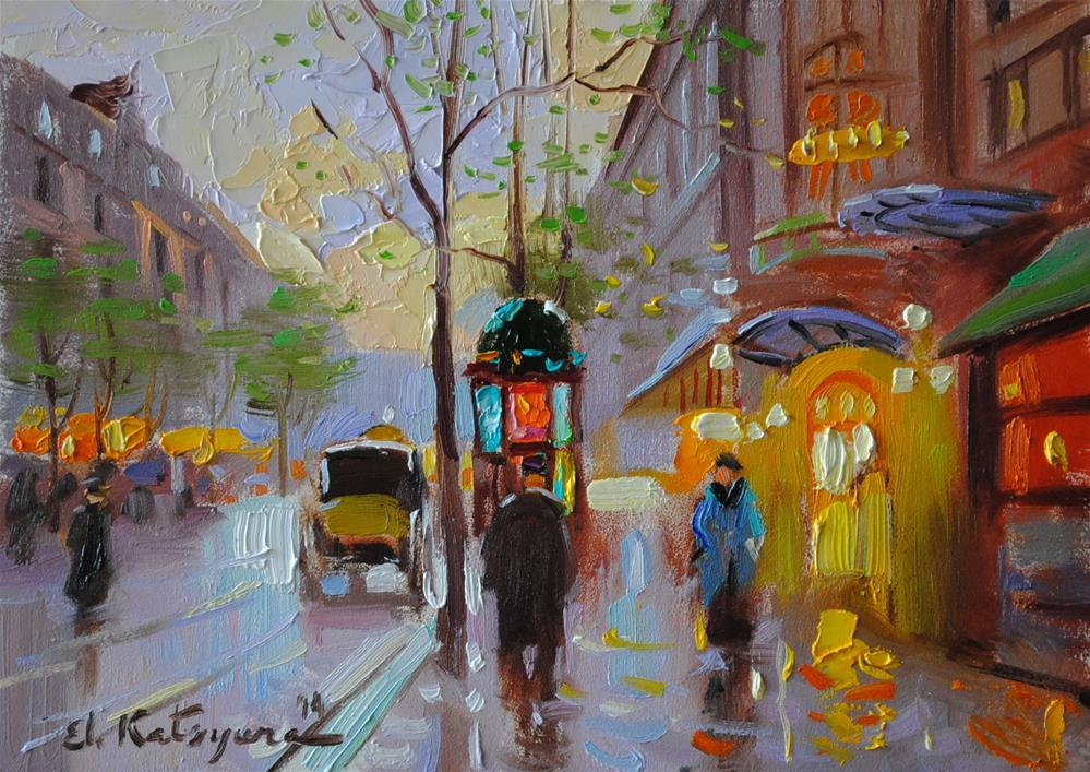 """""""Spring City"""" original fine art by Elena Katsyura"""