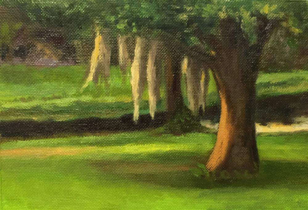 """Backyard View"" original fine art by Cheryl Meehan"