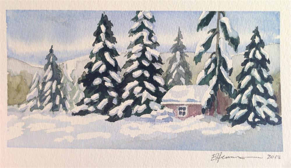 """Snowy Day"" original fine art by Eileen Hennemann"