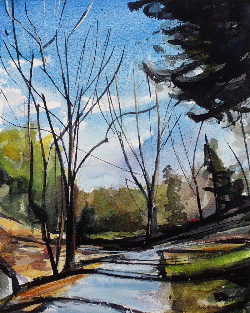 """""""Glen Park"""" original fine art by Chris  Breier"""