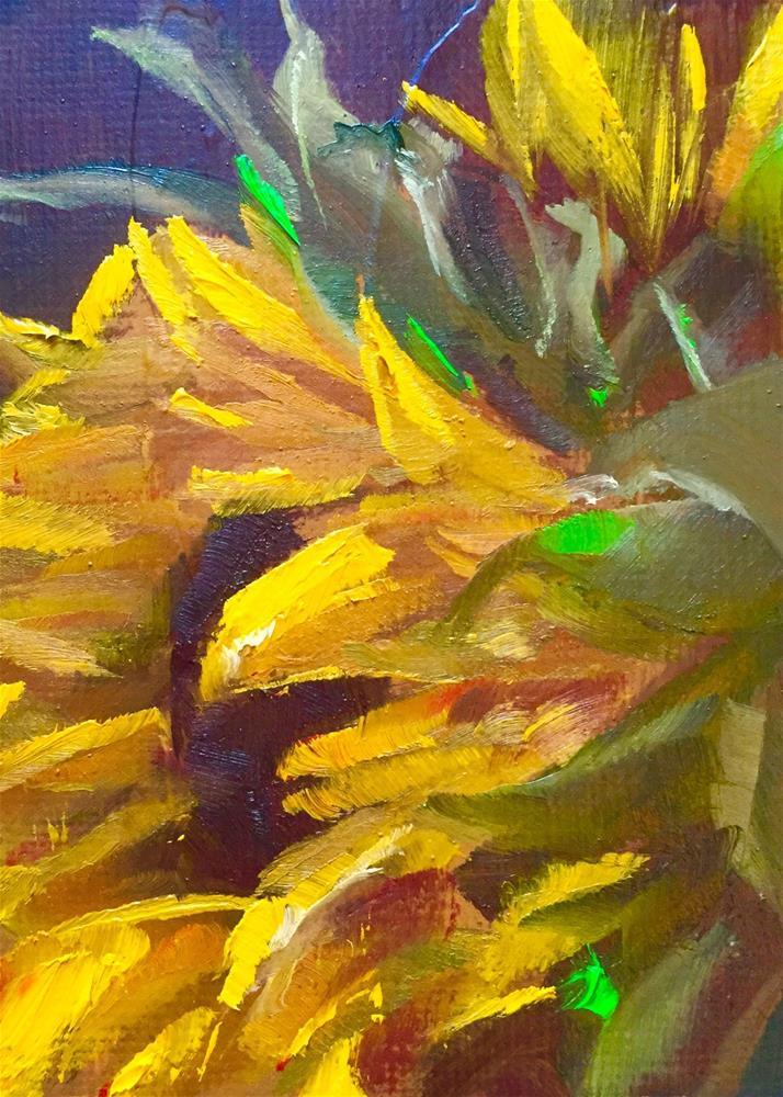 """Sunflower Profile"" original fine art by Gary Bruton"