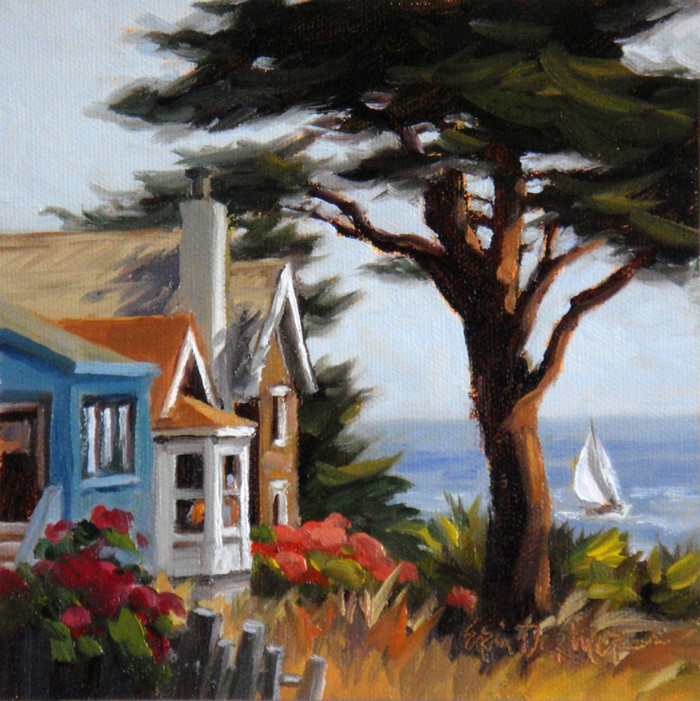 """Santa Cruz Sunshine"" original fine art by Erin Dertner"