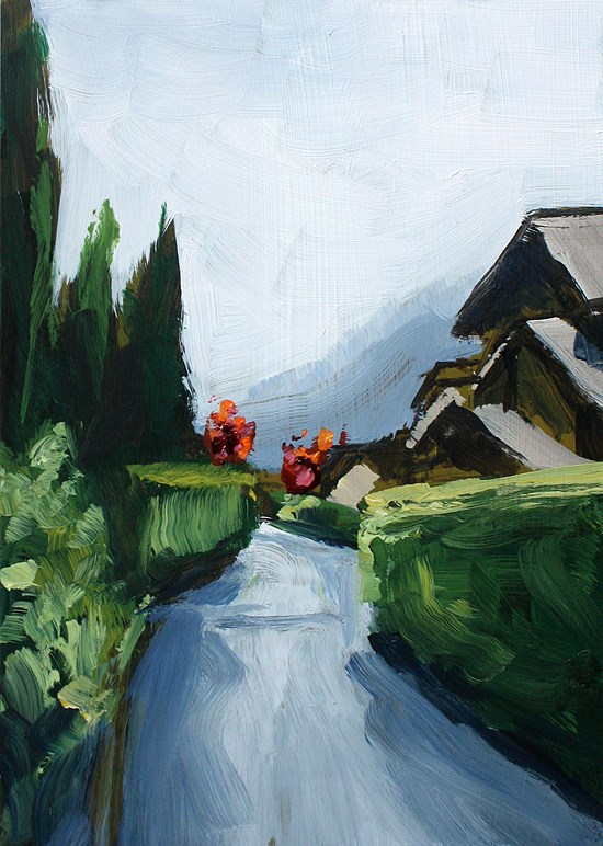"""Kyoto"" original fine art by J. Farnsworth"