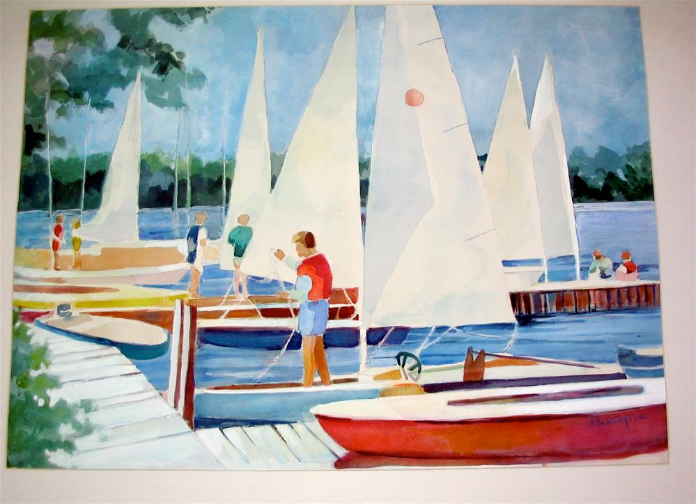 """Sandys boat"" original fine art by meribeth coyne"