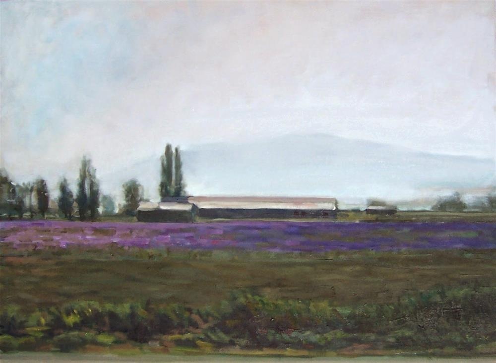 """Morning on Iris Field,landscape,oil on canvas,18x24,price$750"" original fine art by Joy Olney"