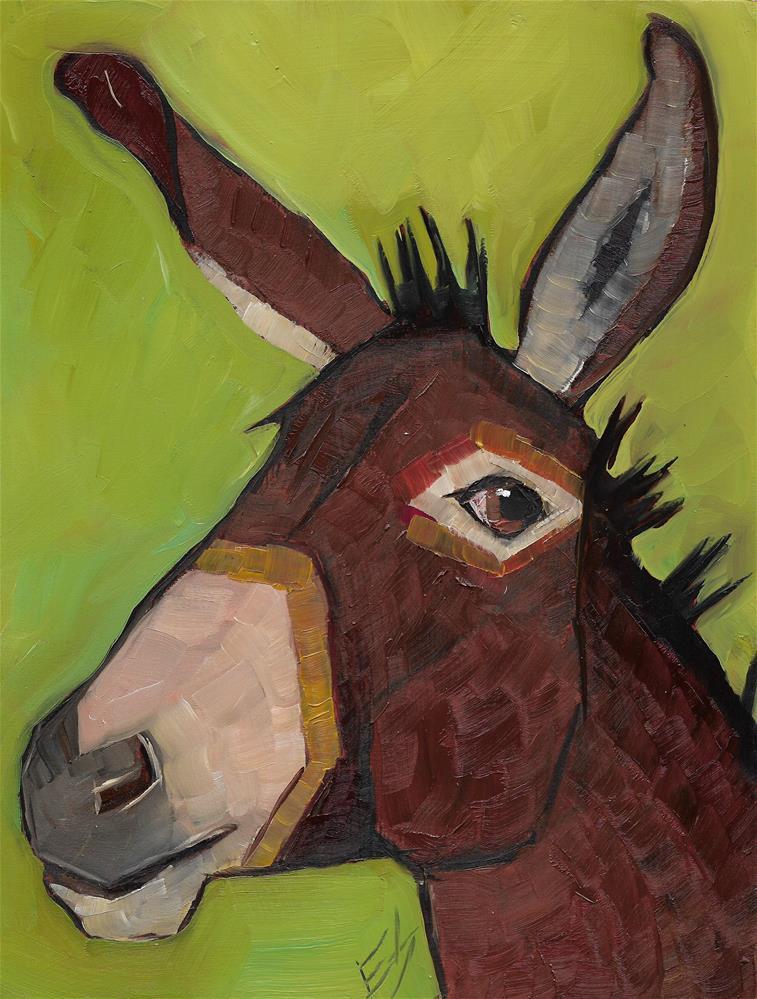 """Donkey"" original fine art by Elizabeth See"