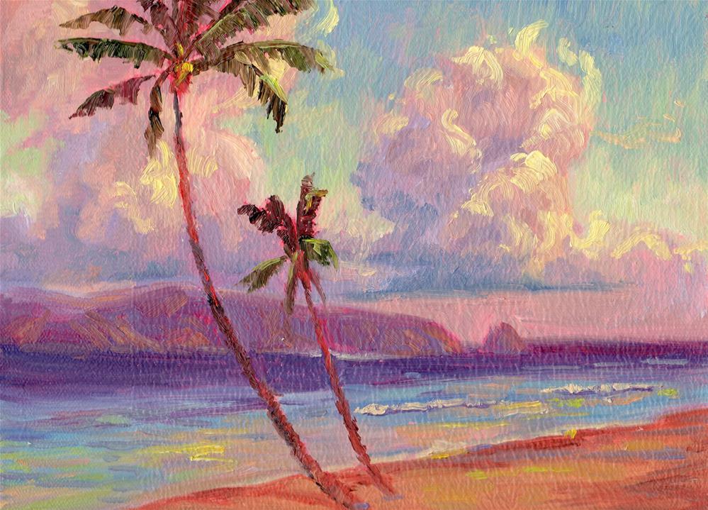 """SUNRISE CLOUD TOWERS"" original fine art by Karen E Lewis"