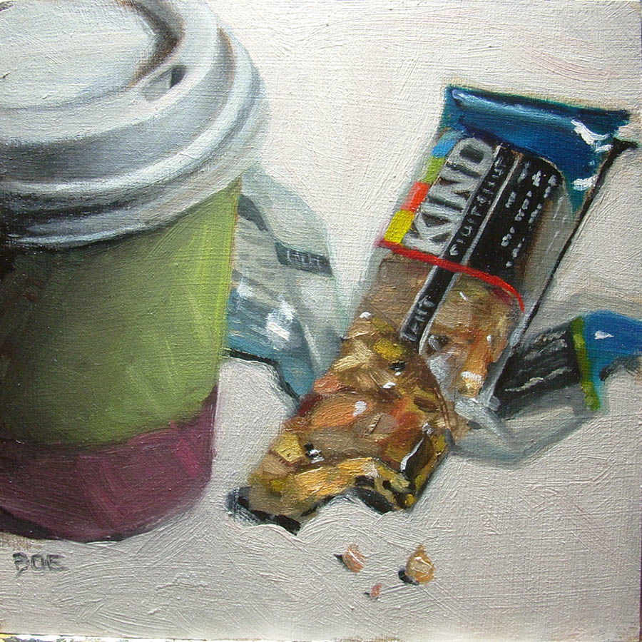 """Weekday Breakfast"" original fine art by Karen Boe"