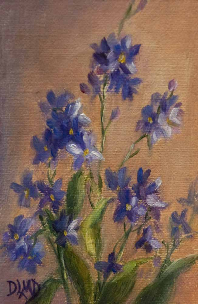 """Daily Sketch: Forget-me -nots"" original fine art by Debbie Lamey-Macdonald"