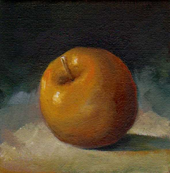 """apple"" original fine art by V. DeBak"