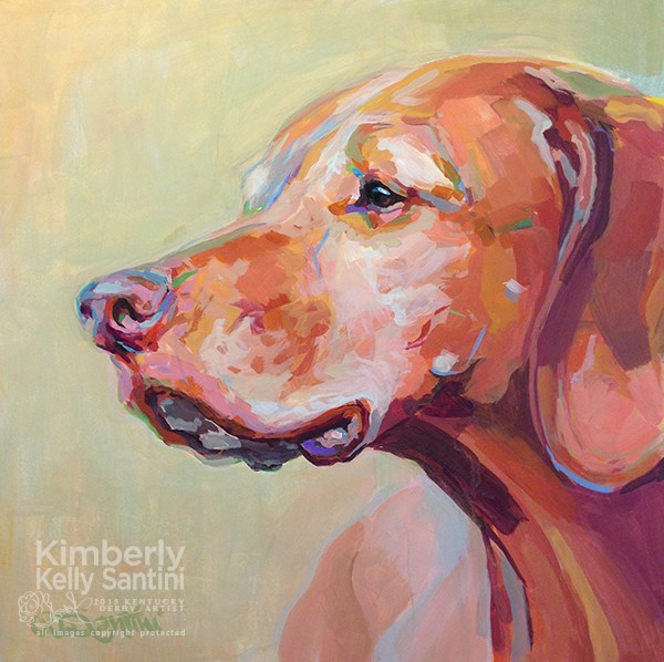 """Holly's Heart Dog, Bela"" original fine art by Kimberly Santini"