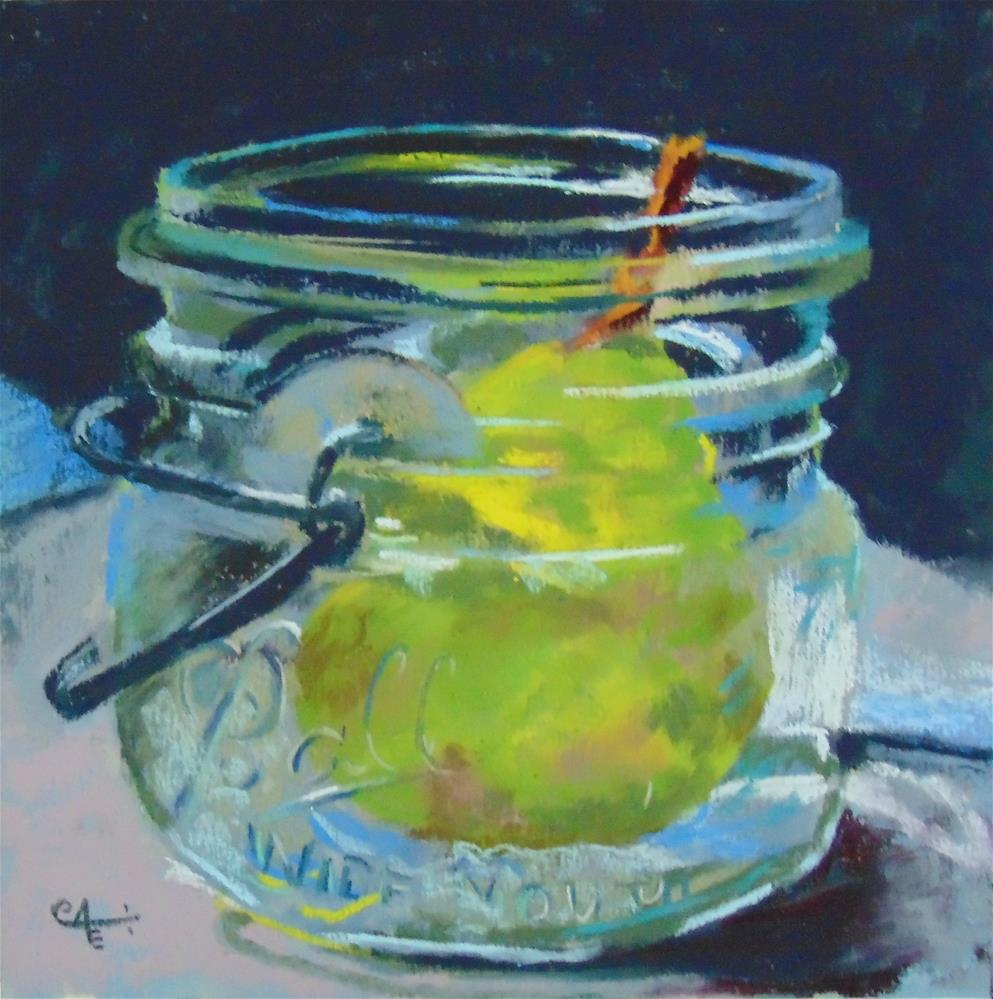 """Pear Jam"" original fine art by Catherine Kauffman"