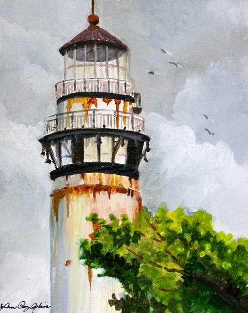 """""""Watchtower"""" original fine art by JoAnne Perez Robinson"""