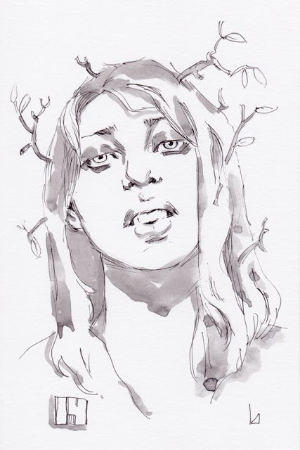 """Inktober Day 14"" original fine art by John Larriva"