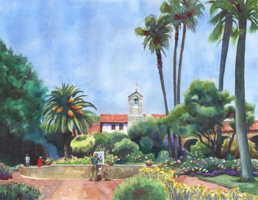 """Watercolor: Capistrano (& a show at Flower Pepper Gallery)"" original fine art by Belinda Del Pesco"