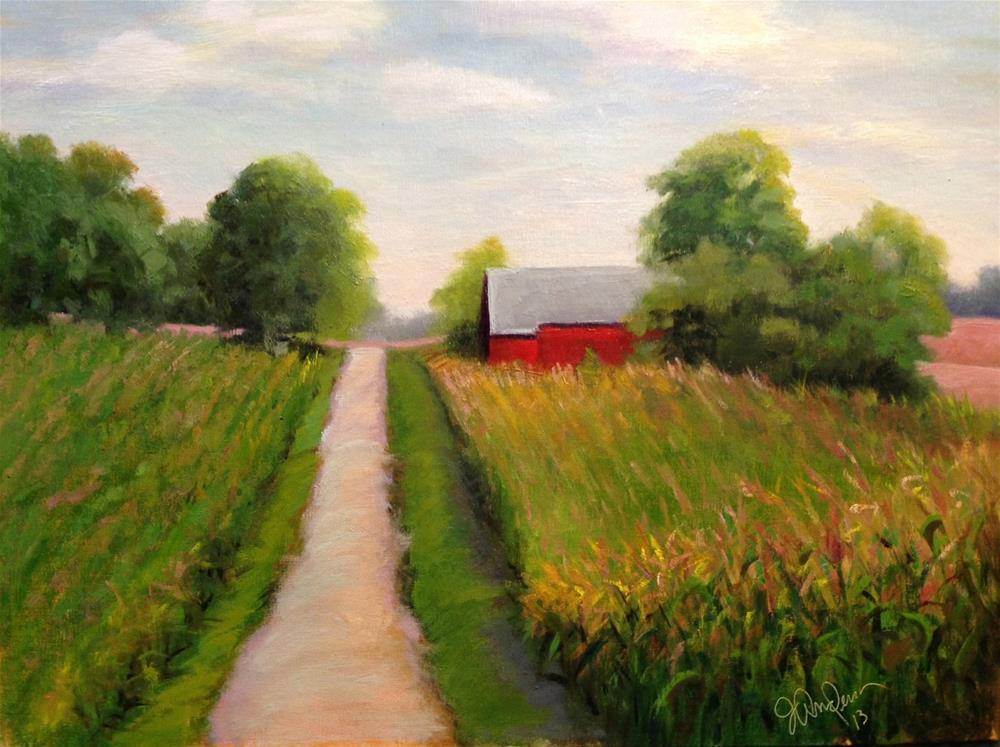 """End of Summer at Miller Farm"" original fine art by Judith Anderson"