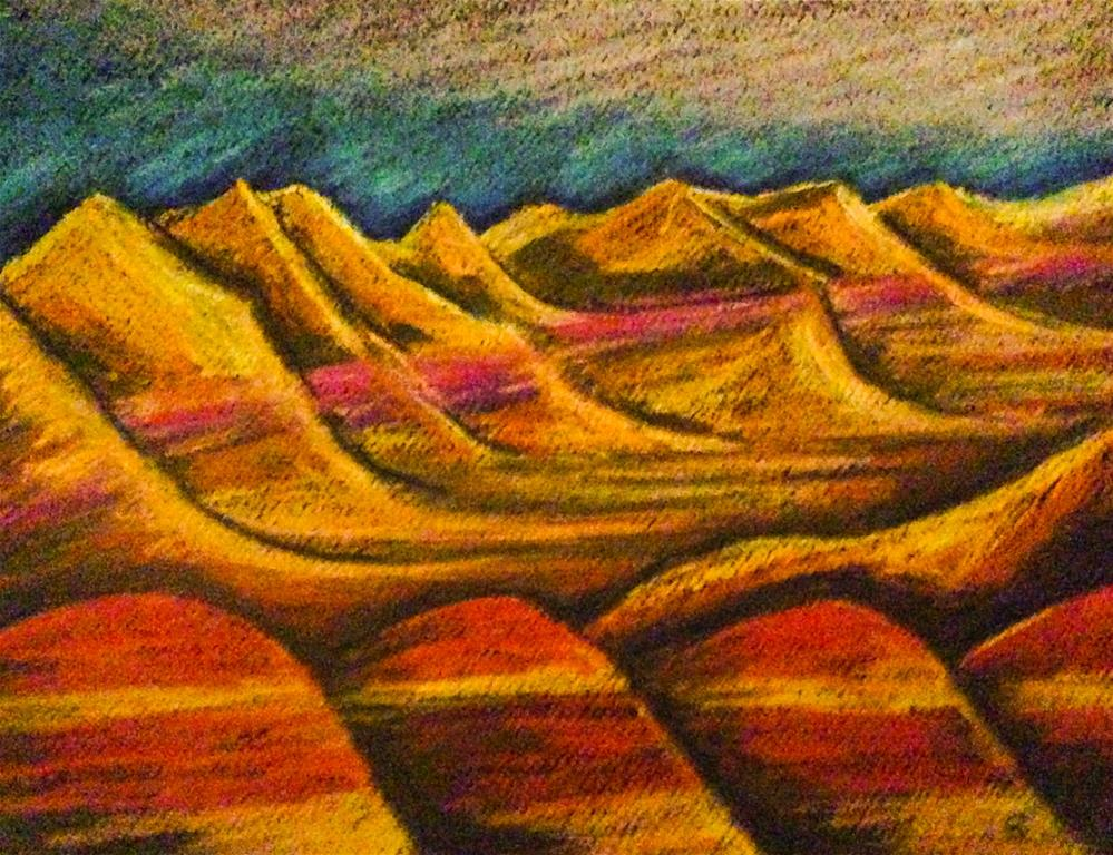 """Badlands 7, South Dakota"" original fine art by Giovanni Antunez"