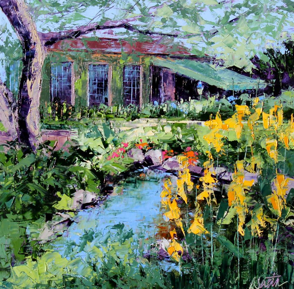 """Joanne's Carriage House - SOLD"" original fine art by Leslie Saeta"