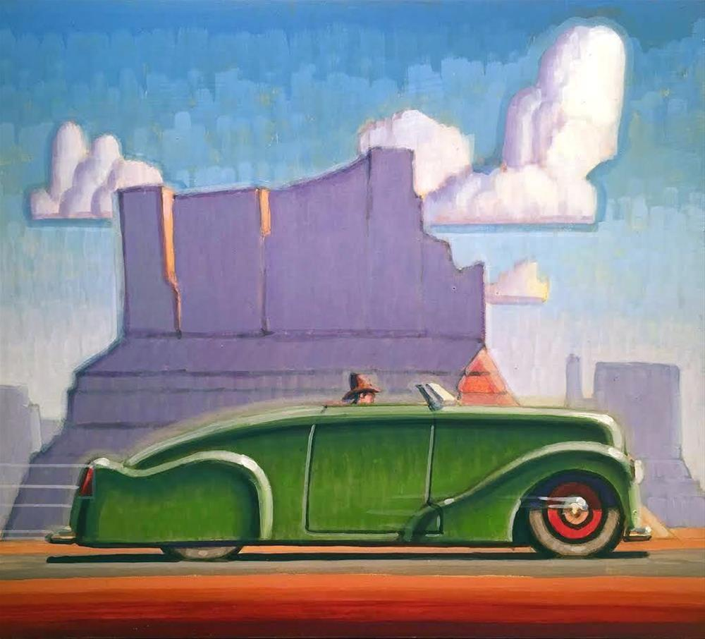 """Convertible Cowboy"" original fine art by Robert LaDuke"