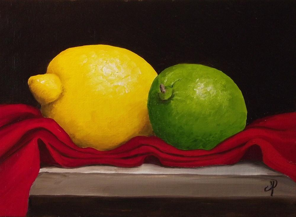 """Lemon and Lime"" original fine art by Jane Palmer"