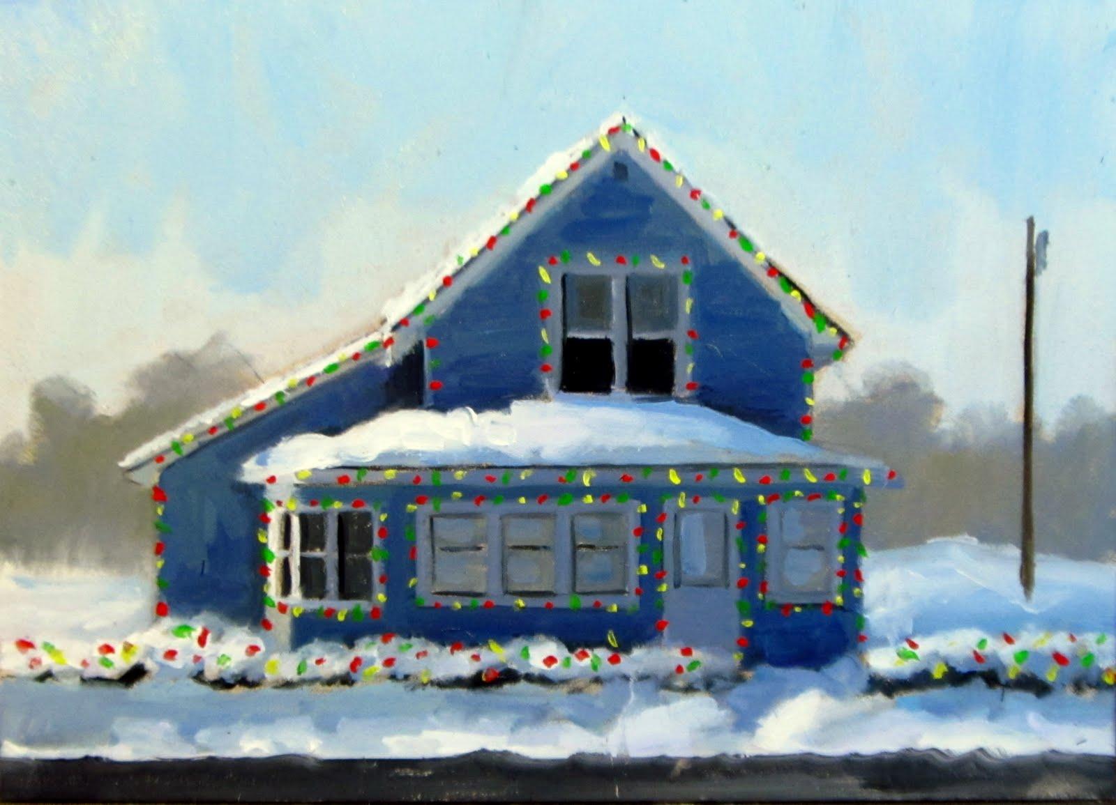 """""""DAILY DIAPER #231 Christmas Lights"""" original fine art by Brian Burt"""