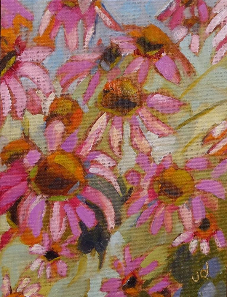 """In the pink"" original fine art by Jean Delaney"