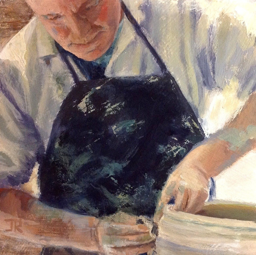 """The Potter"" original fine art by June Rollins"