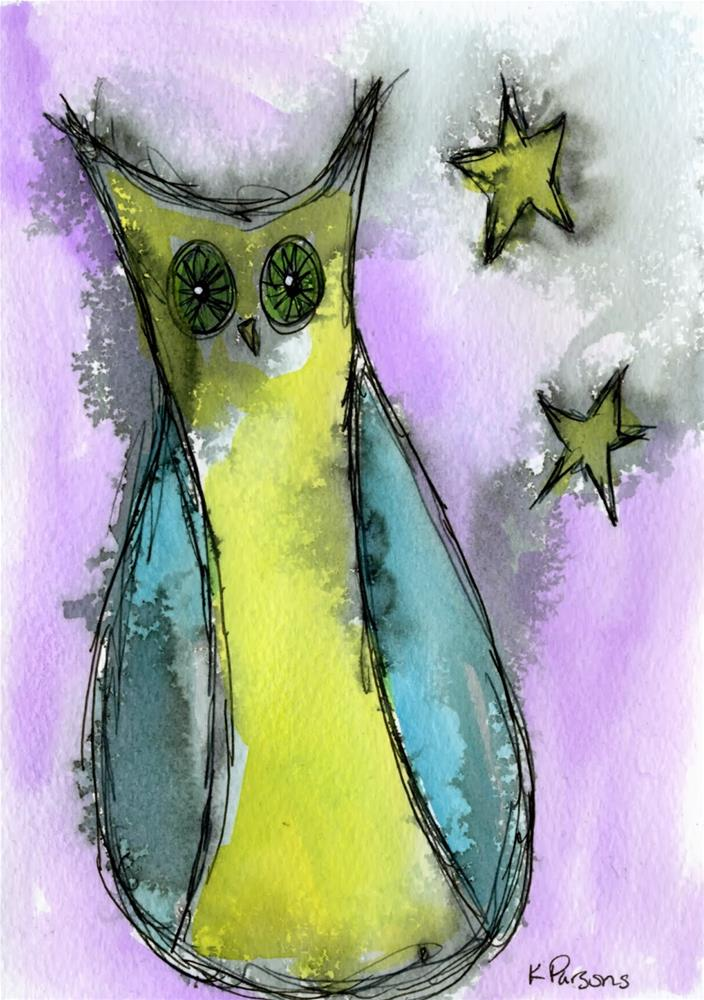 """By the Light of the Stars"" original fine art by Kali Parsons"