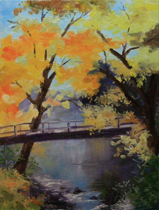 """Foot Bridge"" original fine art by Jean Nelson"