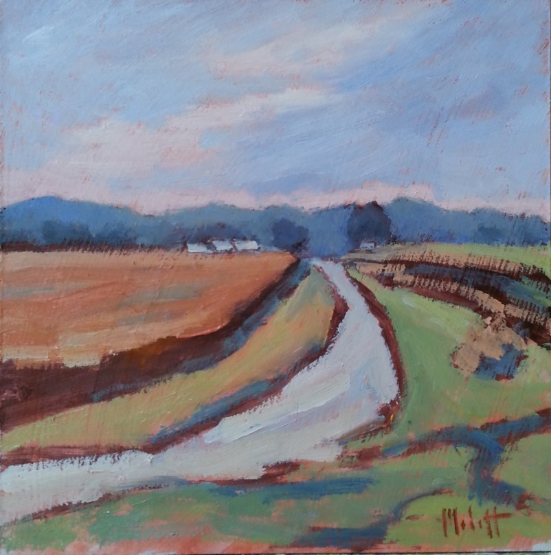 """Country Lane Landscape"" original fine art by Heidi Malott"