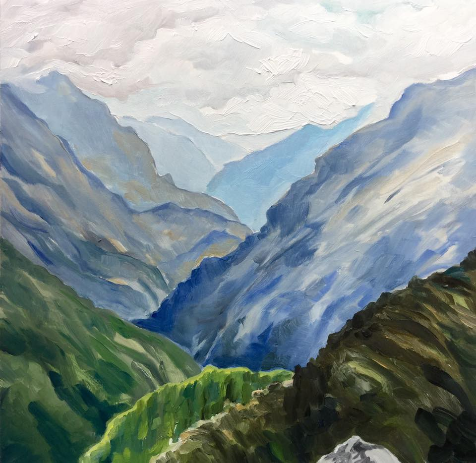 """The Canyon"" original fine art by Lauren Kuhn"