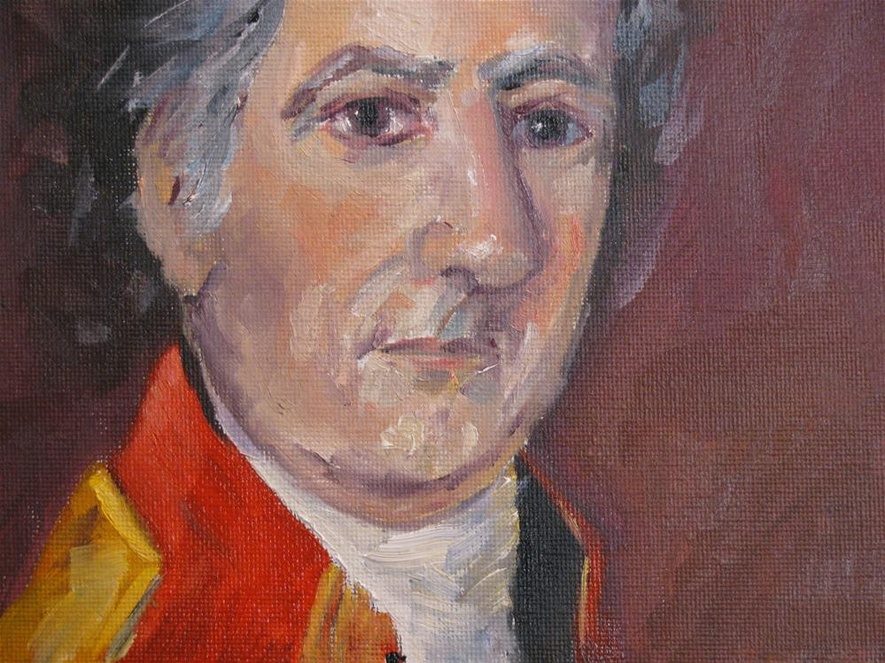 """Study of William Edward West's portrait of Stephen Minor, Spanish Governor of Natchez in 1792"" original fine art by Susan Elizabeth Jones"
