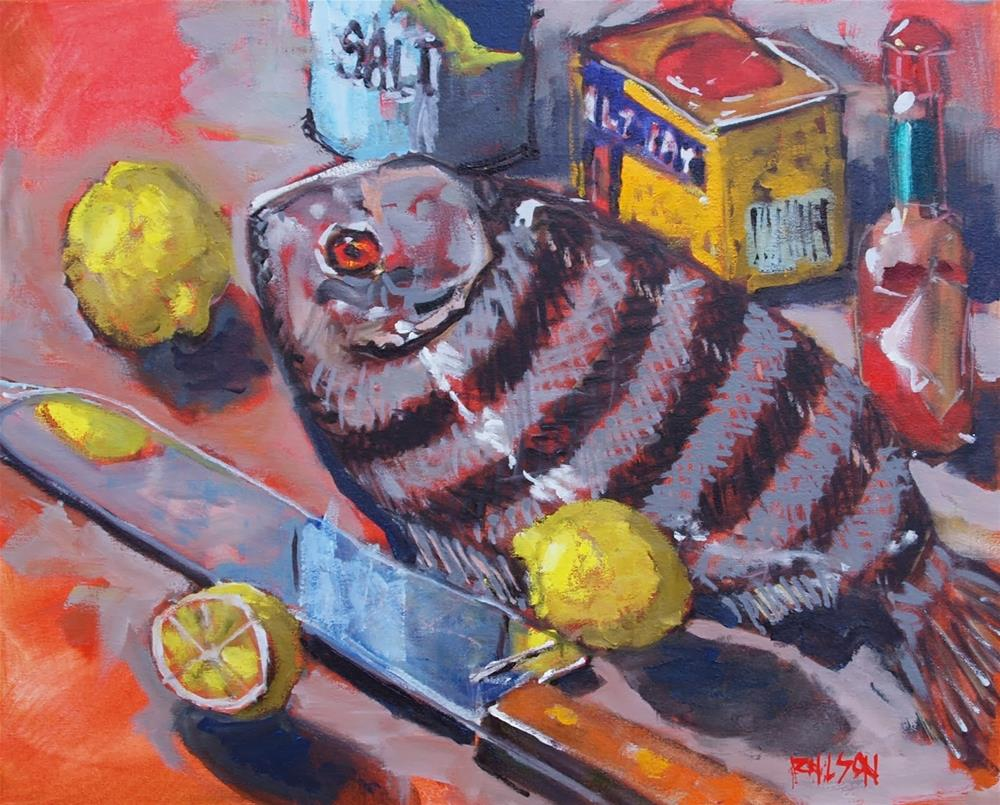 """Sheepshead and Spices"" original fine art by Rick Nilson"