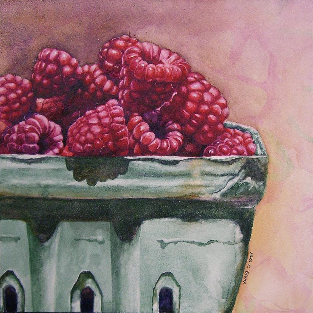 """Raspberries II"" original fine art by Kara K. Bigda"