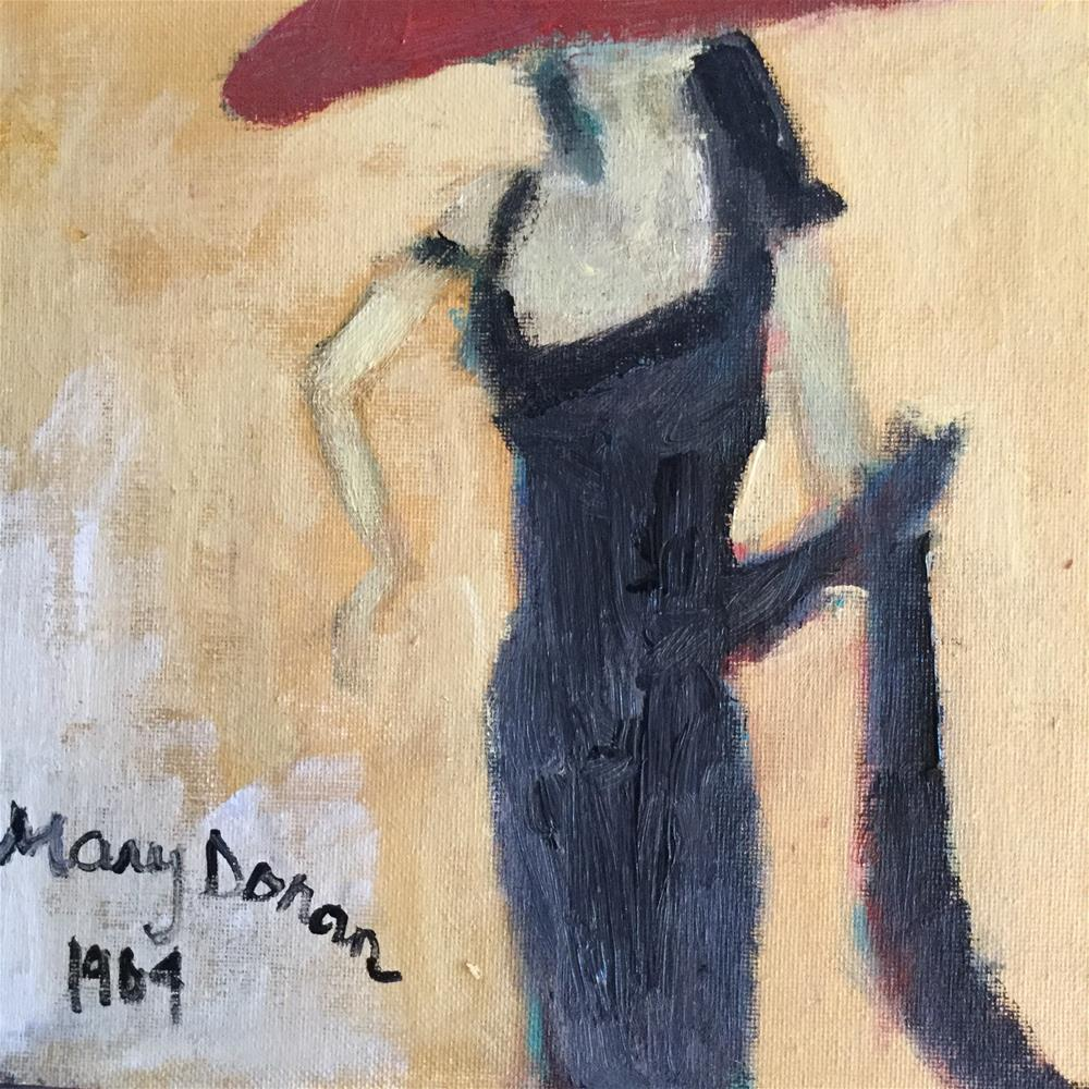 """Mary Donna dress 1969"" original fine art by pamela kish"