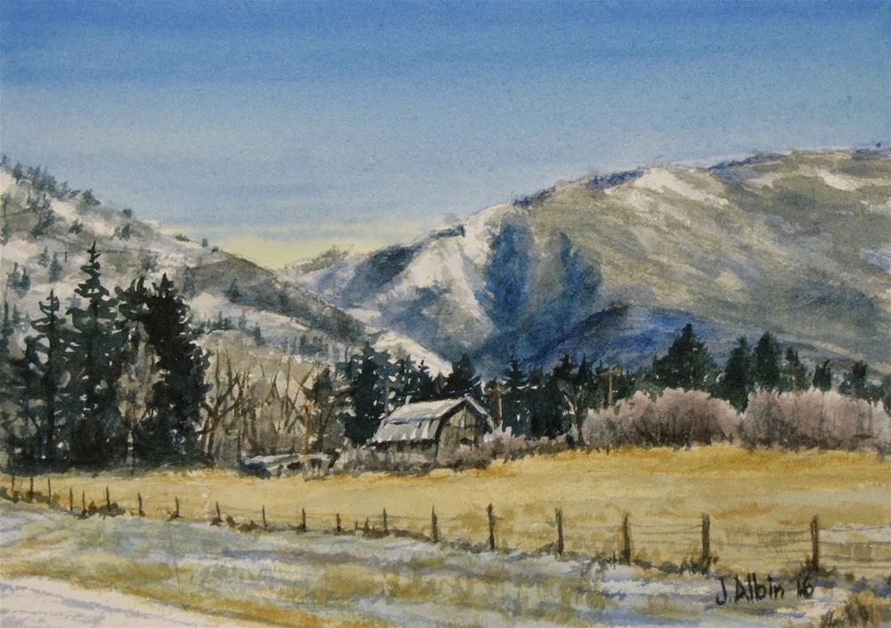 """East of Bozeman Montana"" original fine art by Jane Albin"