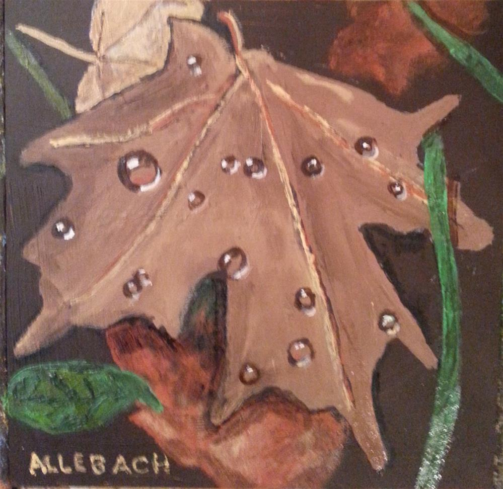 """Leaves After A Rain"" original fine art by Jo Allebach"