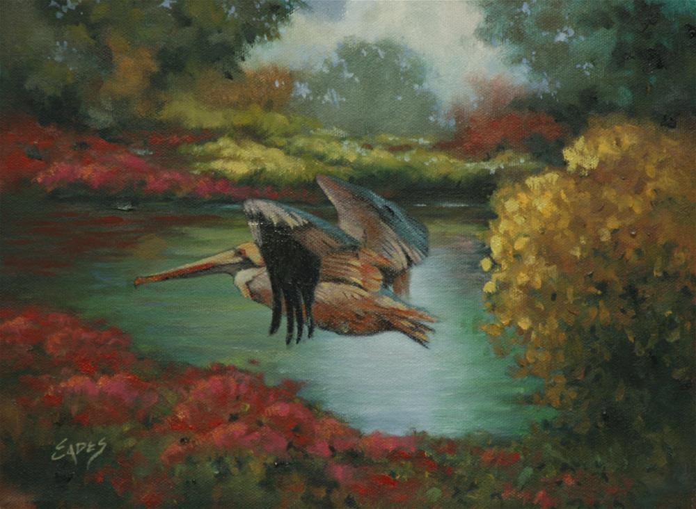 """Fly By"" original fine art by Linda Eades Blackburn"