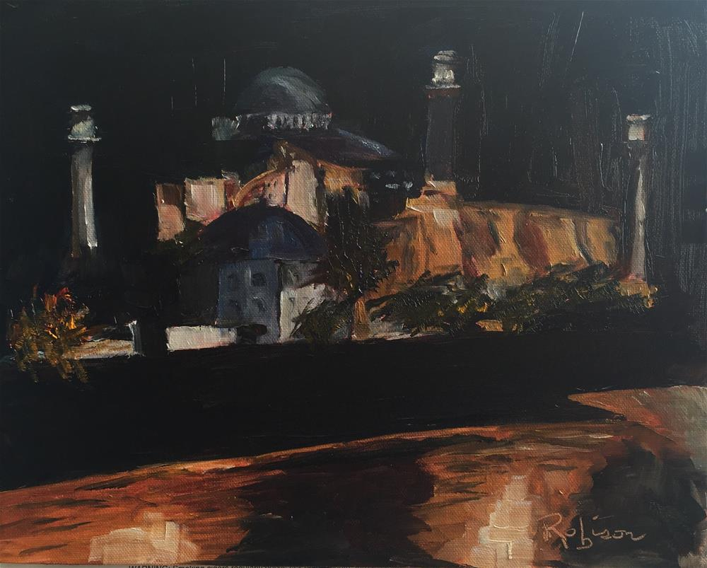 """Istanbul Nights"" original fine art by Renee Robison"