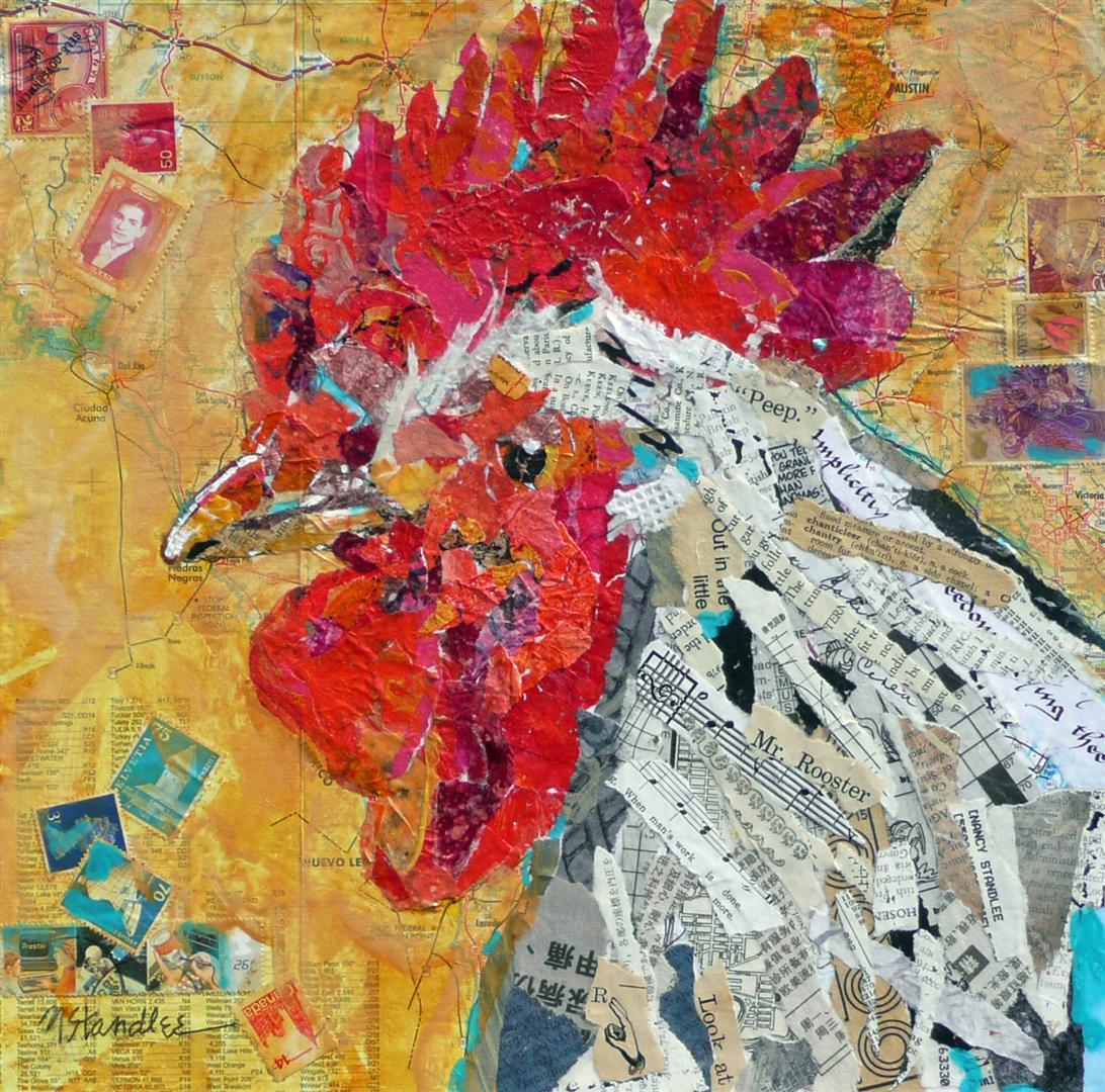 """Mr. Rooster SOLD 11039"" original fine art by Nancy Standlee"